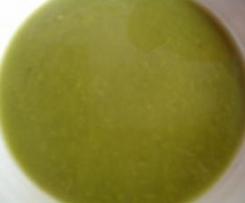 Crema de acelgas y bubango (calabacín)