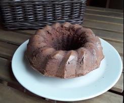 Bizcocho de cacao con avena bajo en calorías