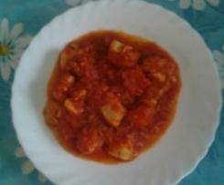 Pechuga de pollo con tomate