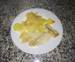 Lomitos de merluza con patatas al vapor