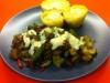 Patatas rellenas de brandada de bacalao con salsa holandesa