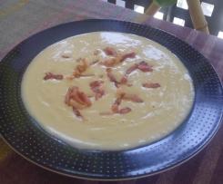 Crema de alcachofas con bacon