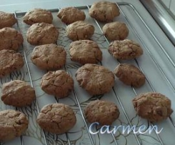 Cookies de chocolate y nuez sin gluten