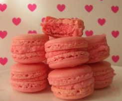 Macarons de fresa