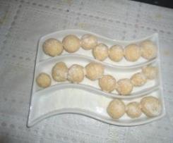 bolitas de mazapan y coco