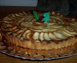 tarta de manzana sin azucar para dietas