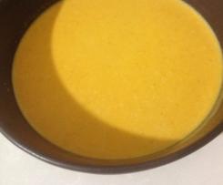 Crema de pimientos rojos y calabacin