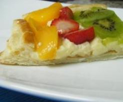 Delicias de frutas con crema