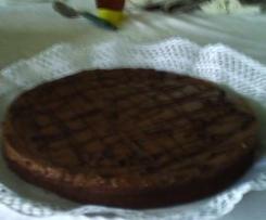 Pastel de tres texturas de chocolate