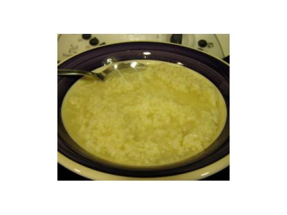 Dieta de solo arroz blanco