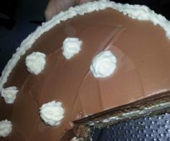 tarta de san marcos con crema de trufas