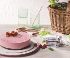 Tarta de frambuesas y chocolate con mantequilla Lurpak