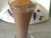 batido de chocolate y galleta