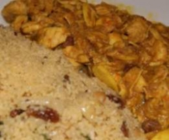 POLLO AL CURRY CON ALMENDRAS