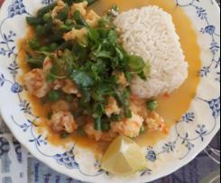 Curry de Camarones y Coco