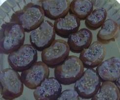 MINI-PALMERAS DE CHOCO BLANCO (sin gluten y sin lactosa)