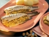 Truchas rellenas con farsa de almendra y aceituna