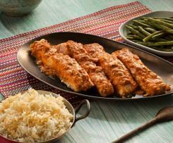 Salmón tikka con arroz basmati - India