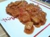 Seitán entomatado con choucroute (vegano)