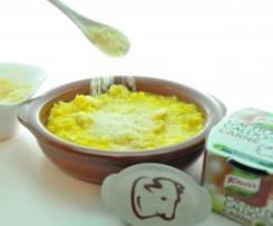 Risotto Mar y Monte con queso.