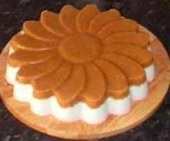 Tarta de chocolate bicolor