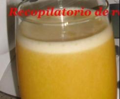 Zumo de mandarina y piña