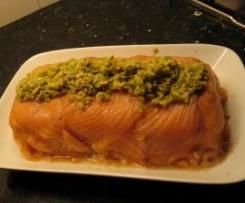 pastel de bonito y salmón