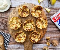 Tartaletas de manzana y gorgonzola con obleas Buitoni