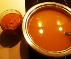 Caldo y pastillas de verdura y jamón
