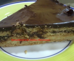 Tarta de chocolate y galleta de la abuela