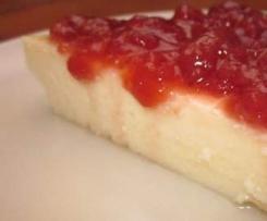 "Variación de Tarta de queso ""Cuqui"" con mermelada de frambuesa"