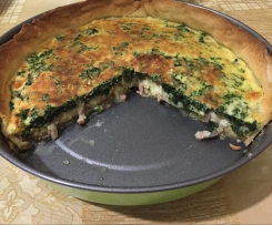 Quiche de bacon y espinacas