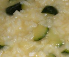 Arroz con calabacín y parmesano