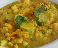 Curry indio de verduras