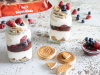 Vasitos de yogur con galleta Hojaldrada Cuétara