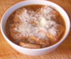 Sopa de cebolla a mi estilo