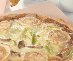 hojaldre relleno de puerros y queso de cabra
