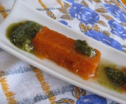 Bombones de Gazpacho con Pesto