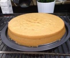 Bizcocho base para tartas fondant