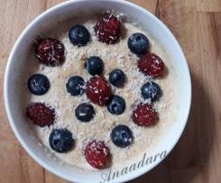 Gachas o Porridge Con Frutos Rojos