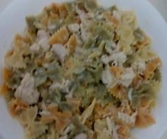 Pajaritas vegetales con pollo