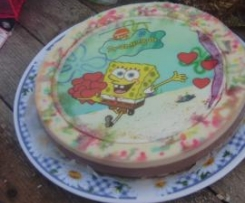 tarta de bob esponja a los tres chocolates