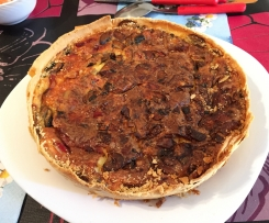 QUICHE DE QUESO, BACON Y CHAMPIÑONES