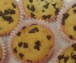 Muffins de vainilla con pepitas de chocolate