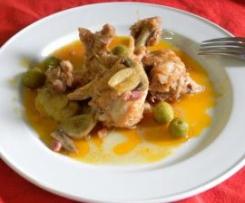 Pollo a la aceituna