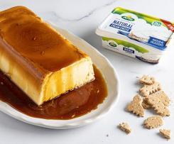 Pastel rápido de queso cremoso Arla al caramelo