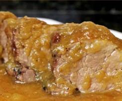 Solomillo de cerdo en salsa espalda española