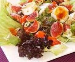 Ensalada de higos, mozzarella y tomates a la vinagreta de miel
