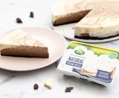 Pastel de queso cremoso Arla marmolado