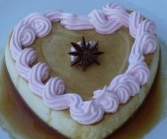 Corazón de mascarpone y merengue rosa